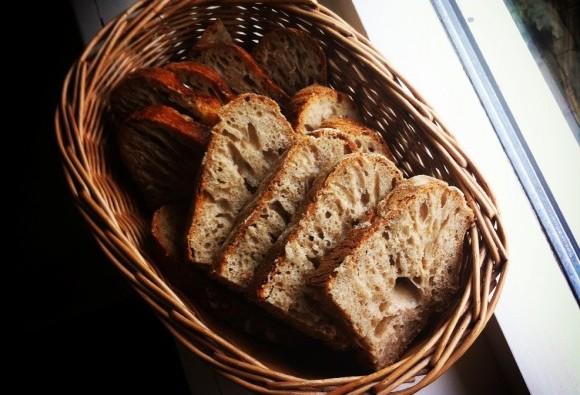 Spelt Sourdough loaf - sliced